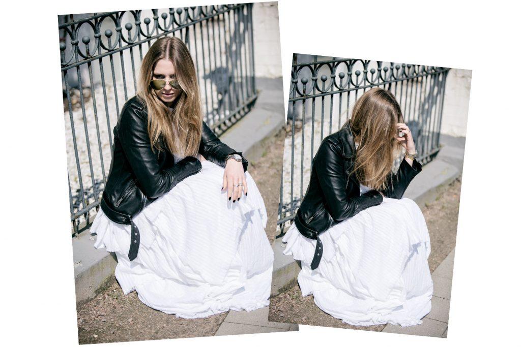 Sancarolin-Streetstyle-Replay-Weißes-Kleid-Volantkleid-Dobby-Duo