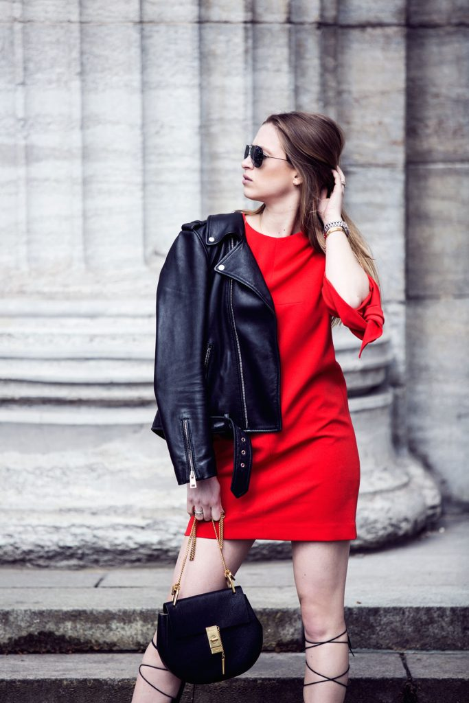 Streetstyle-Tibi-Red-Dress-Gladiator-Sandals-6