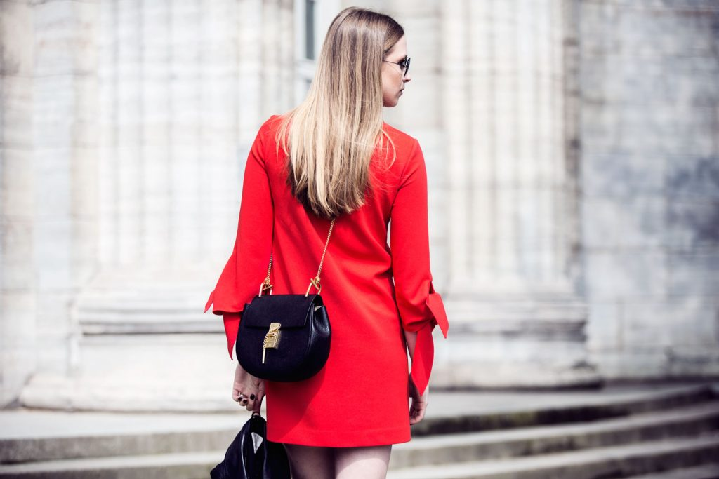 Streetstyle-Tibi-Red-Dress-Gladiator-Sandals-8