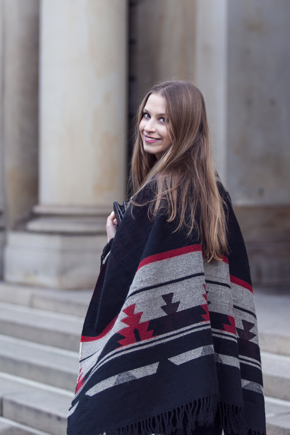 Aztec eye catchers! Rock your blanket poncho as accessory.